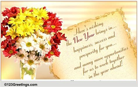 success prosperity on new year free business greetings