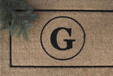 Monogram Welcome Mat Custom Monogram Doormat For The Holidays Room For Tuesday