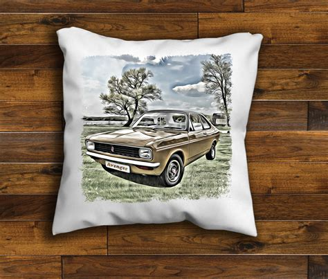 Handmade Cushions Vintage - vintage retro car hillman avenger unique design cushion