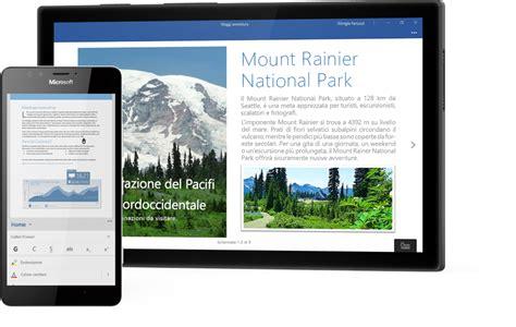 windows mobile tablet app di office per windows 10 su telefoni e tablet windows