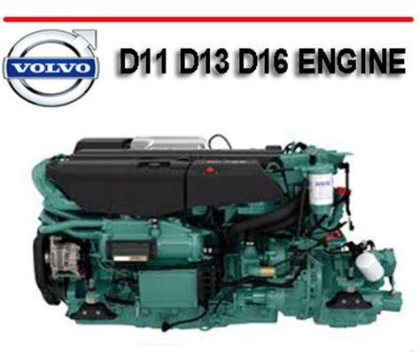 volvo truck d11 d13 d16 engine workshop repair manual