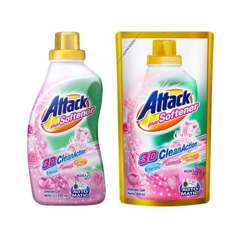Attack 3d Plus Softener 800gr jual attack plus softener 3d clean liquid 800 ml