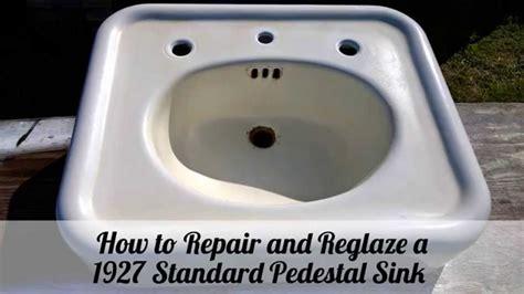 how to reglaze a sink how to repair and reglaze a 1927 pedestal sink