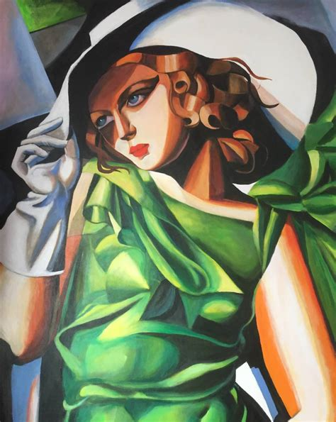 tamara de lempicka art new david aldus original quot young lady after tamara de lempicka art deco painting ebay