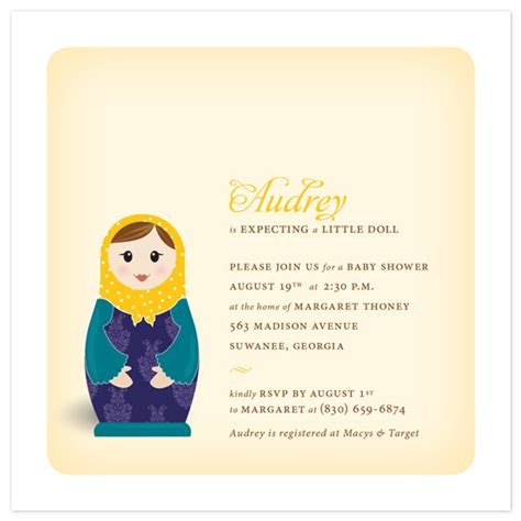 Minted Baby Shower Invitations by Baby Shower Invitations Matryoshka At Minted