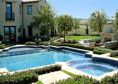 Landscape Design With Pool Ams Landscape Design Studios Mediterranean Pool Los