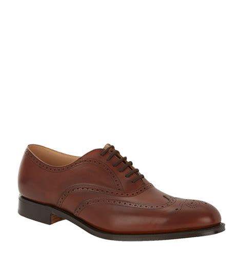 oxford shoe design church s berlin punched oxford shoe in brown for lyst