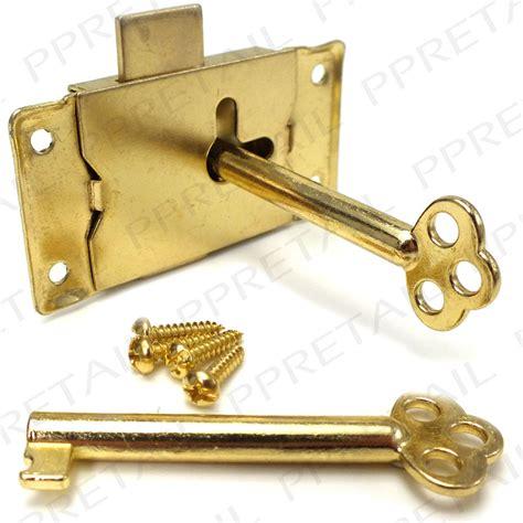 Wardrobe Lock And Key by 63mm Brass Wardrobe Cupboard Lock 2 Screws Cabinet