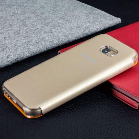 official samsung galaxy a3 2017 neon flip wallet cover gold