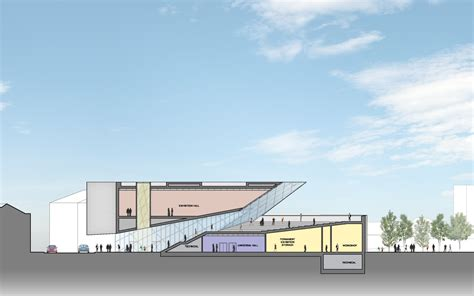 Drawing Center by Design For A New Lithuanian Modern Center By Daniel