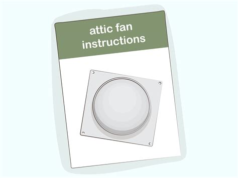 how to install an attic fan how to install an attic fan with pictures wikihow