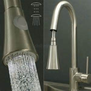 e dub brushed nickel pull out sprayer kitchen faucet