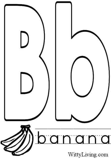 coloring pages of letter b letter b coloring pages to download and print for free