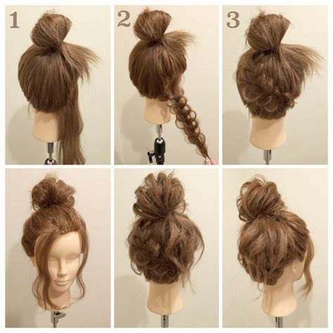 hairstyles buns tutorials braided buns cute buns and tutorials on pinterest