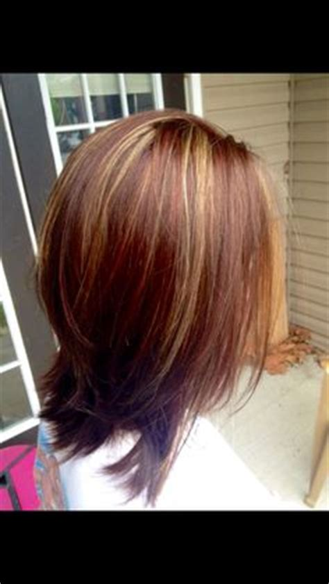 blonde highlights with mahogany low lights a gorgeous pearly blonde highlight with beautiful mahogany