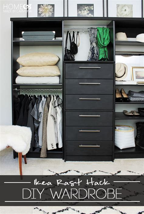 cool  easy diy ikea hacks   closet shelterness