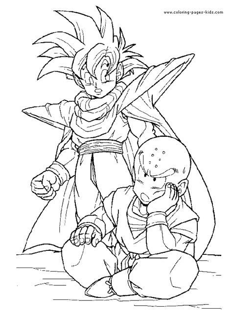 ball z char colouring pages