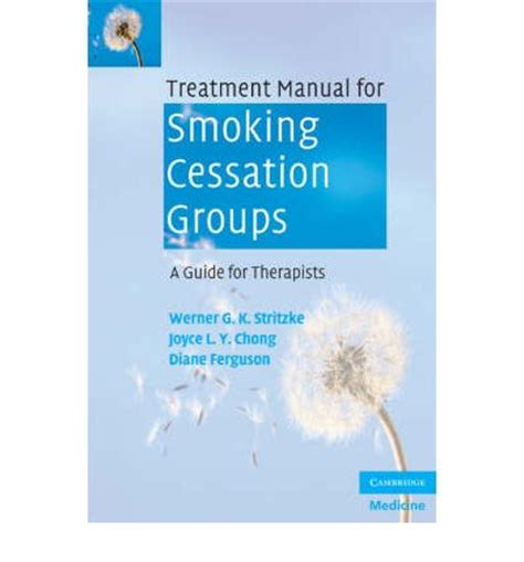 therapy manual treatment manual for cessation groups a guide for
