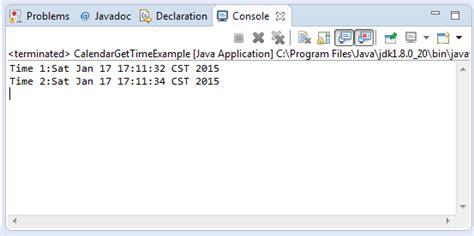 java tutorial time java calendar gettime method exle