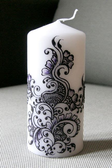 henna design on candle 38 best images about mehndi candles on pinterest