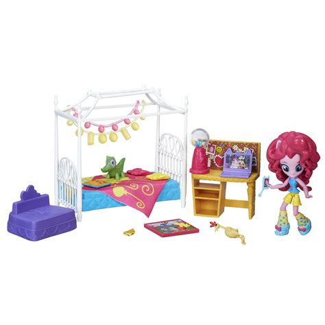 my little pony bedroom set my little pony equestria girls minis pinkie pie slumber party bedroom set toys