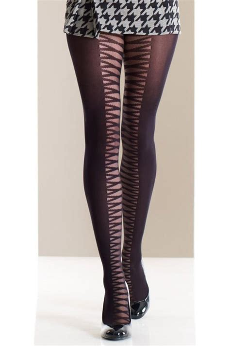 patterned tights vogue jonathan aston opaque striped fashion tights