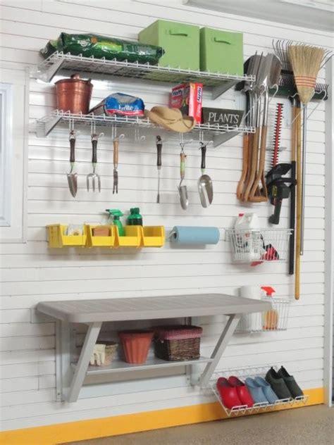 Garage Tool Storage Gardening Tools Storage Kit With Bench On Tekpanel