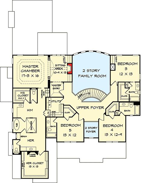 his and her bathroom floor plans his and her bathrooms 36033dk architectural designs
