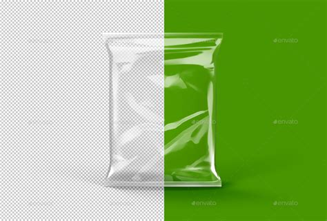 Transparent Pouch transparent foil pouch packaging mock up by tirapir