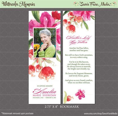 funeral card template 17 best images about memorial service ideas on