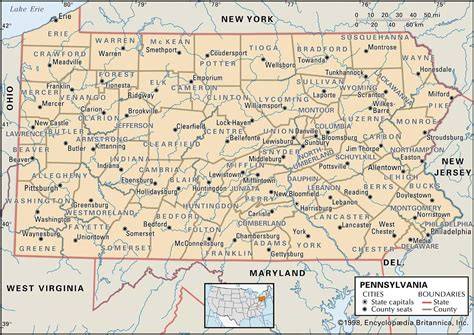 pennsylvania county map historical facts of pennsylvania counties guide