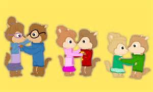 chipmunks and chipettes hug by thechipmunkalvin on deviantart