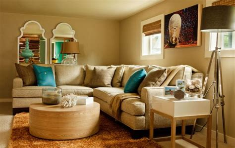 Blue And Neutral Living Room by Wallcoverings For A Decoration Room Decorating