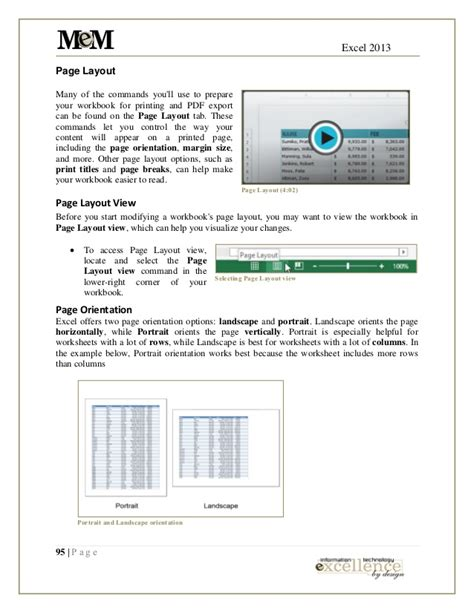 reading layout excel 2013 excel 2013