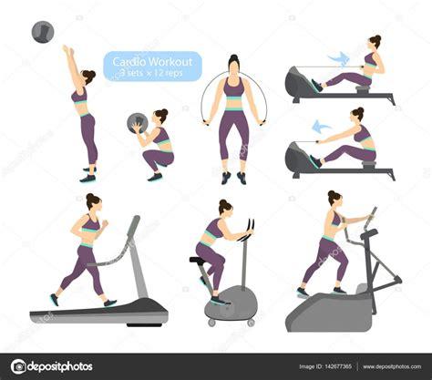 imagenes de workout cardio training oefeningen stockvector 169 inspiring
