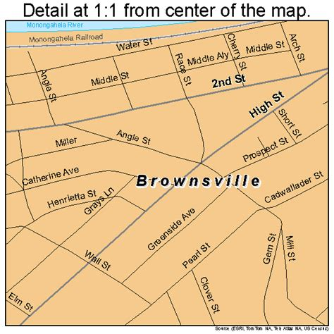 map brownsville brownsville pennsylvania map 4209432
