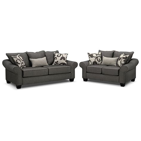Sleeper Sofa And Loveseat Set Colette Innerspring Sleeper Sofa And Loveseat Set Gray Value City Furniture