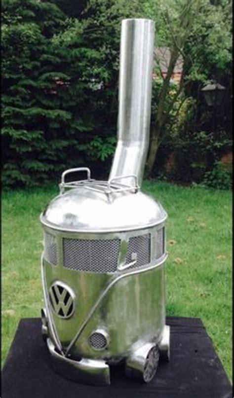 volkswagen chiminea vw cer gas bottle wood burner log burner firepit