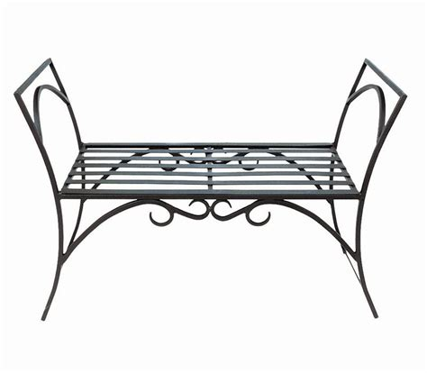 wrought iron bench object moved