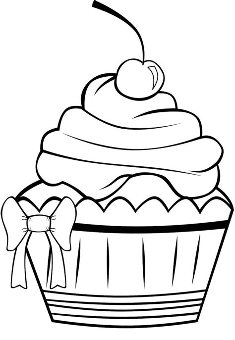 free coloring pages of pretty cake cute cupcake coloring page cupcake e dolci pinterest