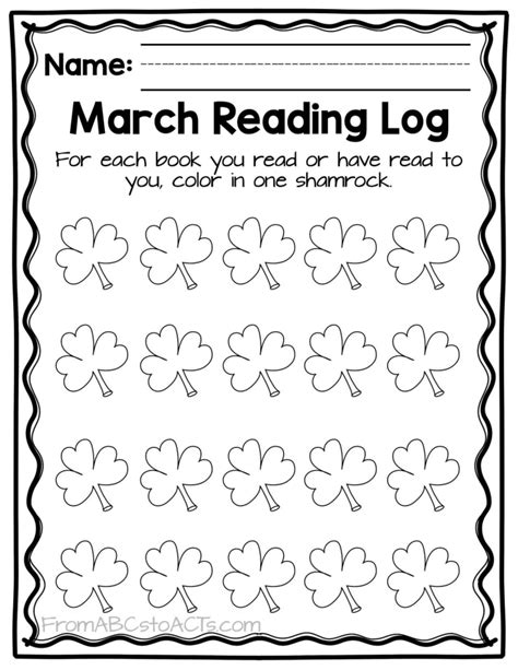 themed monthly reading logs modern preschool themed monthly reading logs from abcs to acts