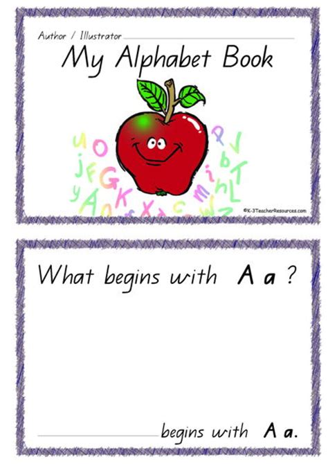 printable alphabet book template printable alphabet book