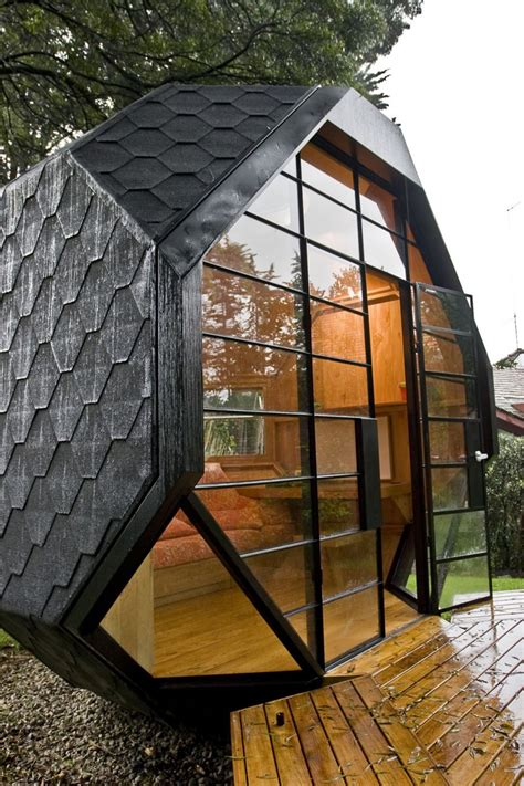 Backyard Pod by Cool Child Playhouse In A Back Yard Polyhedron Habitable