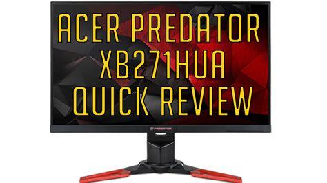 acer predator xb271hua 1440p 144hz g sync review