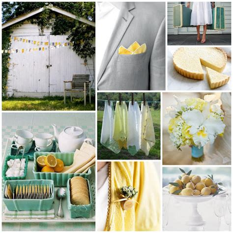 lemon and tea inspiration board luxeweddingblog