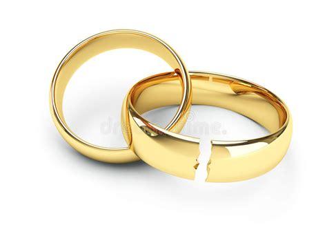 gold broken wedding rings royalty free stock image image