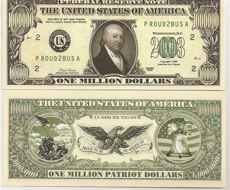 new year us dollar bill united states 1 million patriot dollar bill new