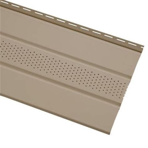 Vinyl Soffit Home Depot by Cellwood Economy 4 In Khaki Solid Vinyl Soffit