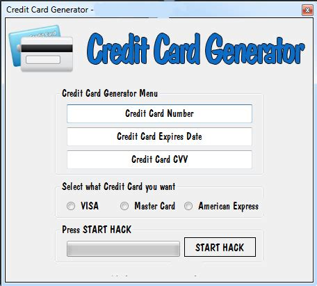 Credit Card Template Generator Credit Card Number Generator Valid Card Number