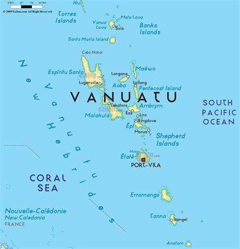 Small American Cities by Road Map Of Vanuatu And Vanuatu Road Maps